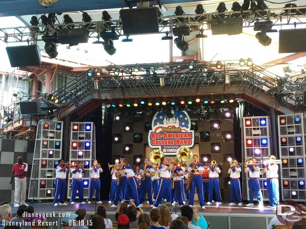 The 2015 All-American College Band on the Hollywood Backlot Stage