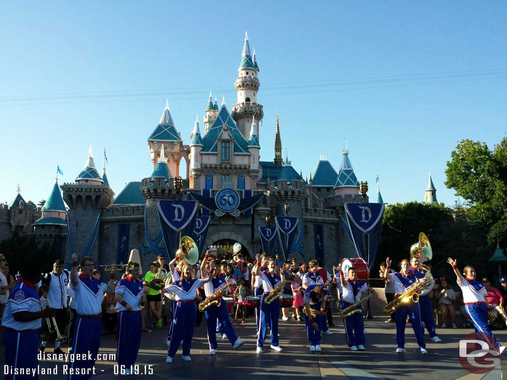 2015 #Disneyland All-American College Band in front of Sleeping Beauty Castle