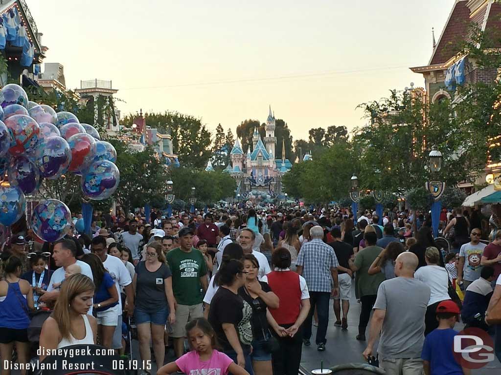 Main Street USA as the sun is setting #Disneyland