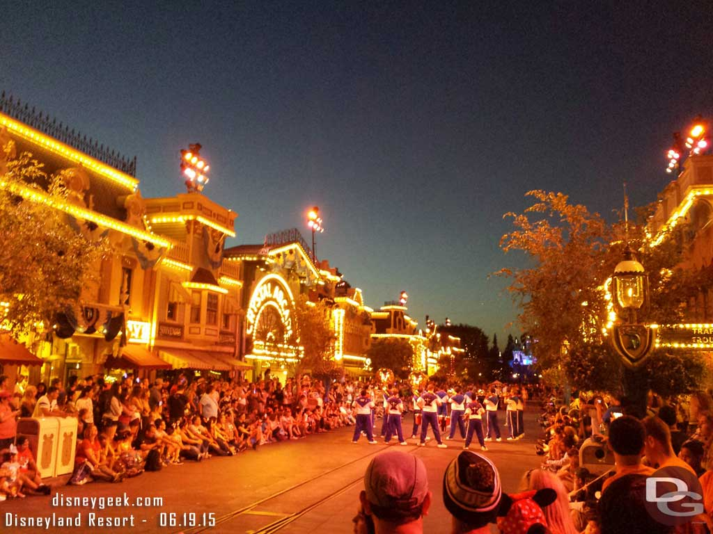 The #Disneyland All-American College Band on Main Street USA