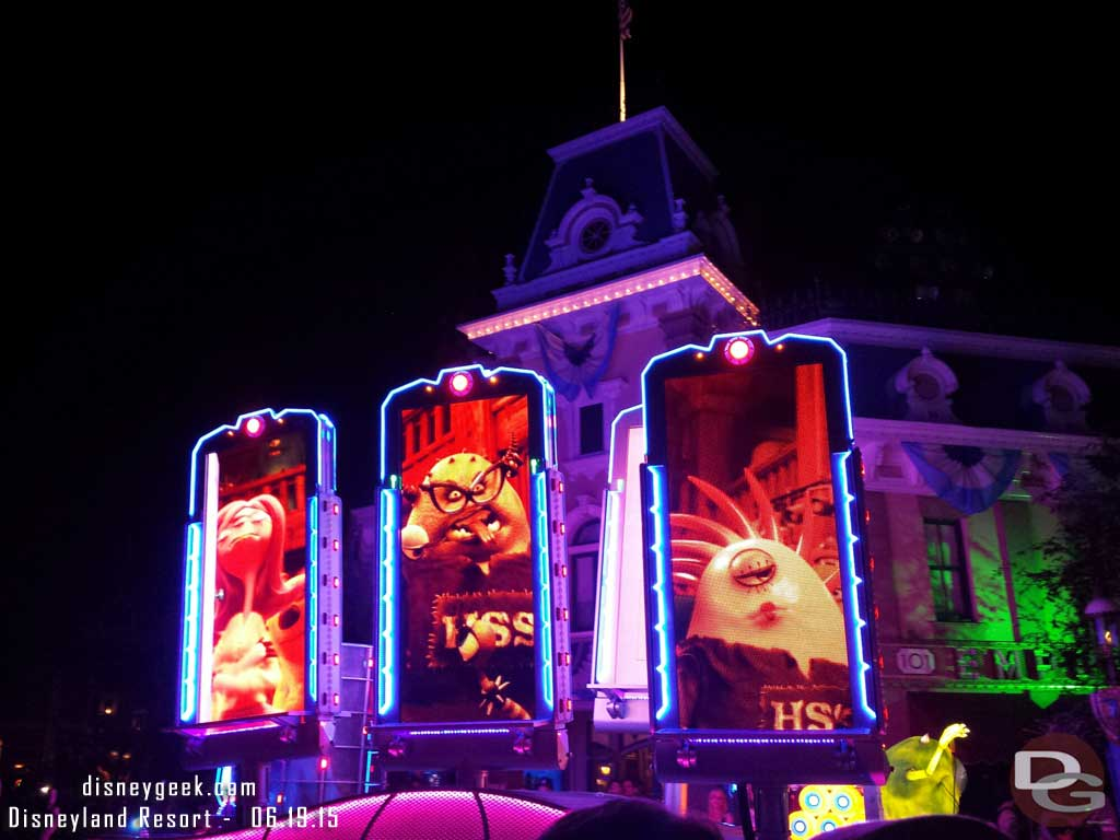 Monsters Inc float Paint the Night #Disneyland60