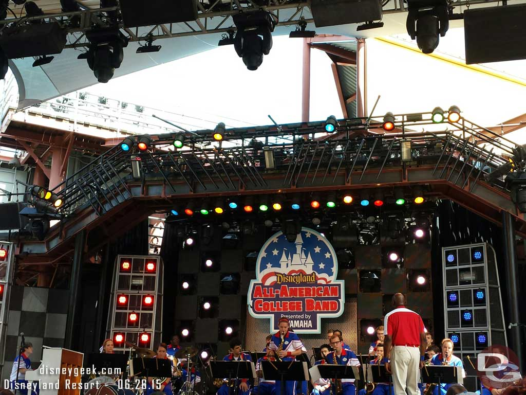 Listening to the 2015 #Disneyland Resort All-American College Band at the Hollywood Backlot Stage