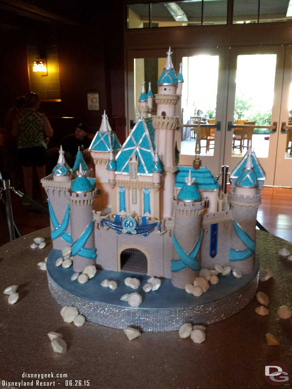 #Disneyland60 Sleeping Beauty Castle Cake in the Grand Californian lobby