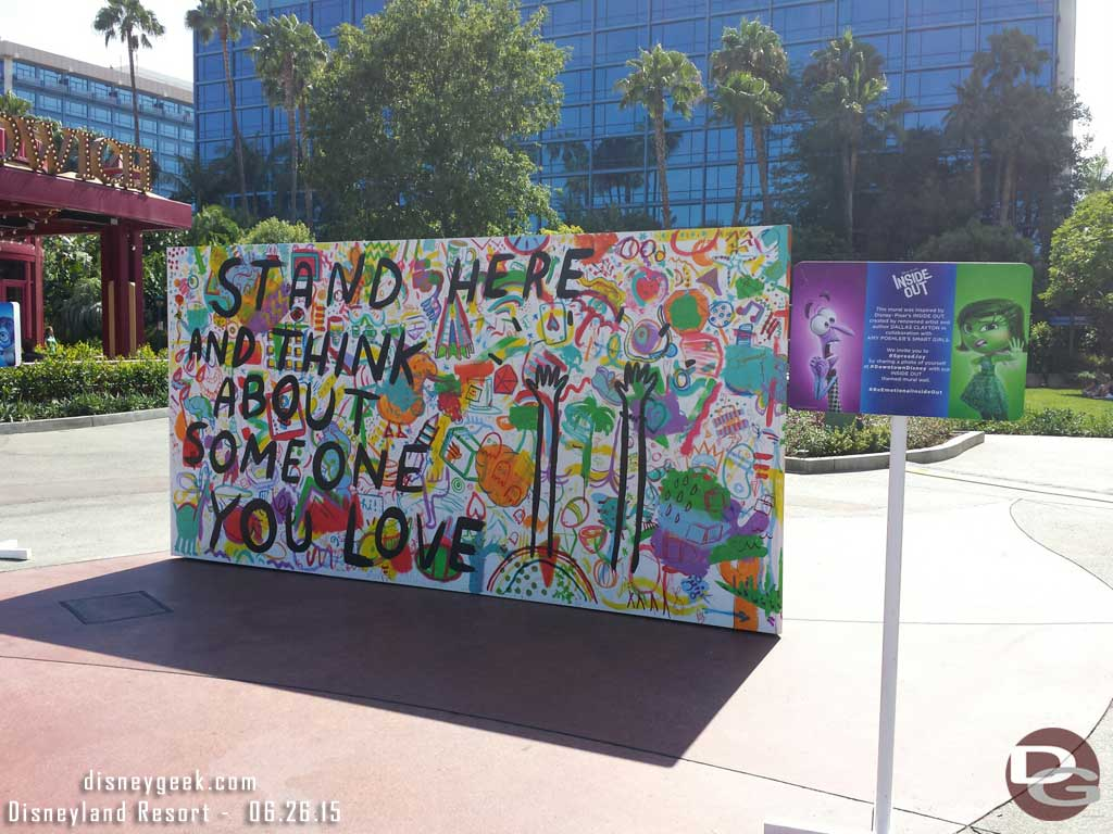 #InsideOut mural by Dallas Clayton in Downtown Disney