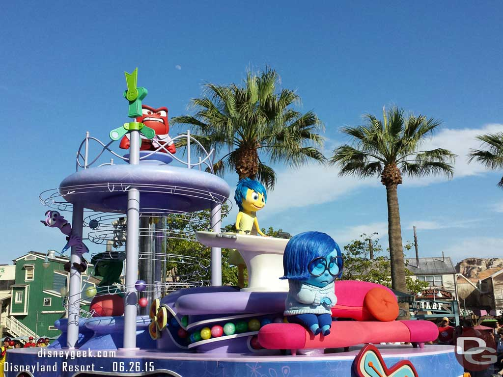 #InsideOut pre-parade at Disney California Adventure