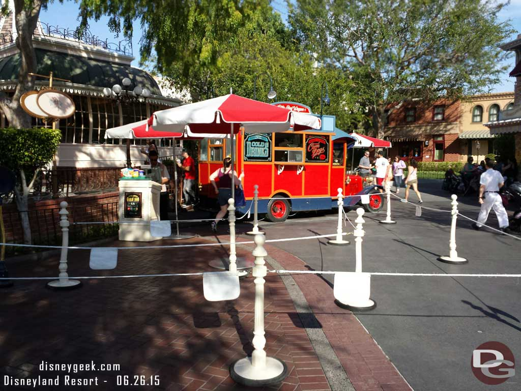 The Corn Dog Wagon is ready for a crowd this evening #Disneyland