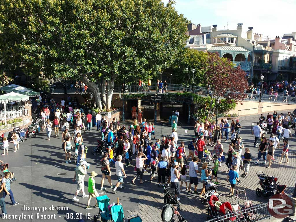New Orleans Square from the Mark Twain note Pirates is down #Disneyland