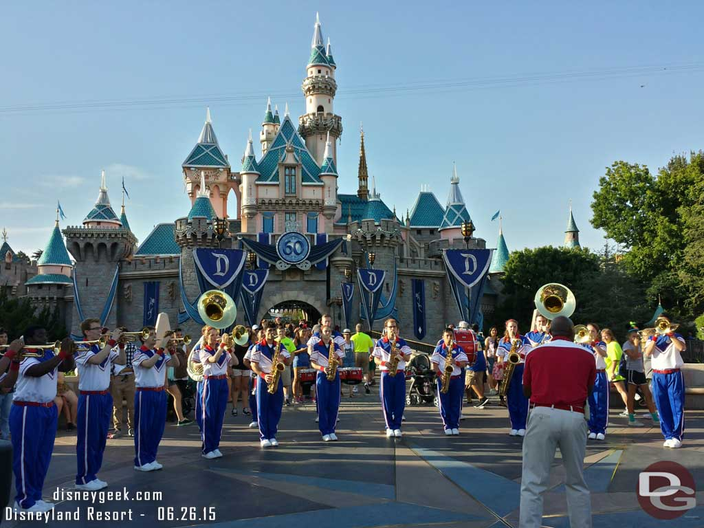 2015 #Disneyland Resort All-American College Band Sleeping Beauty Castle set time