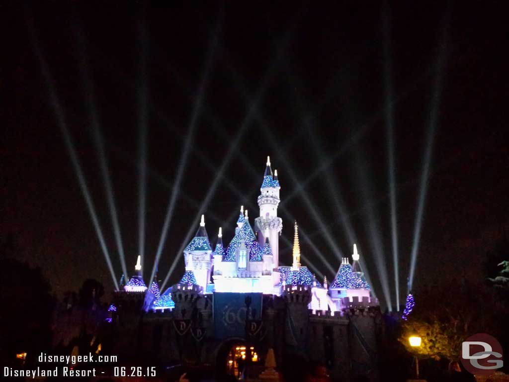 #Disneyland60 Sleeping Beauty Castle on the way out