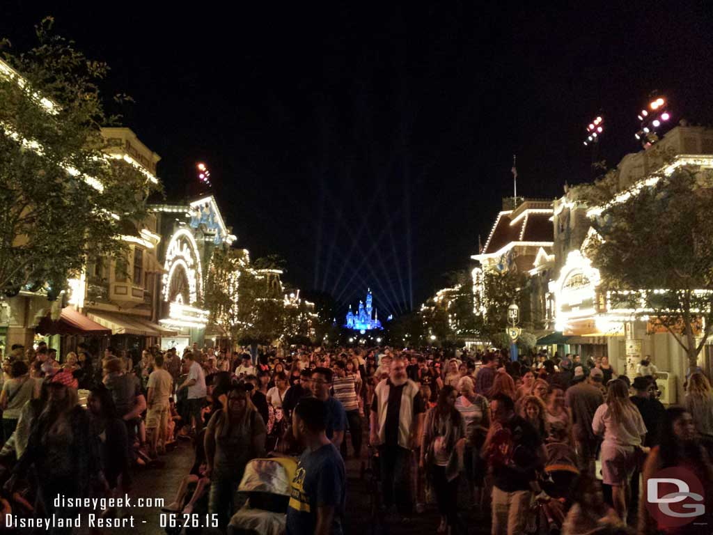 Looking back at Main Street USA before exiting #Disneyland