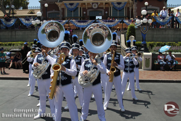 New Disneyland Band Debut - 11:30 Town Square on July 17, 2015