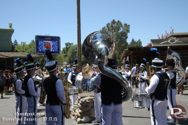 New Disneyland Band Debut - July 17, 2015 - Frontierland 1:45pm performance