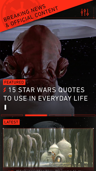 Star Wars App Screen Shot from Disney