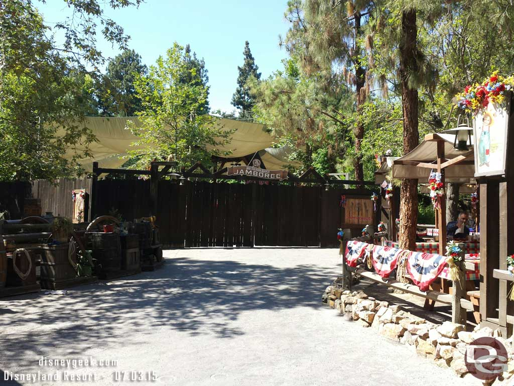 The Big Thunder Ranch Jamboree area has nothing going on today #Disneyland