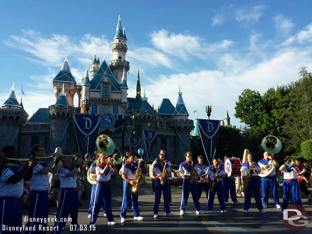 6:15 #Disneyland All-American College Band in front of Sleeping Beauty Castle