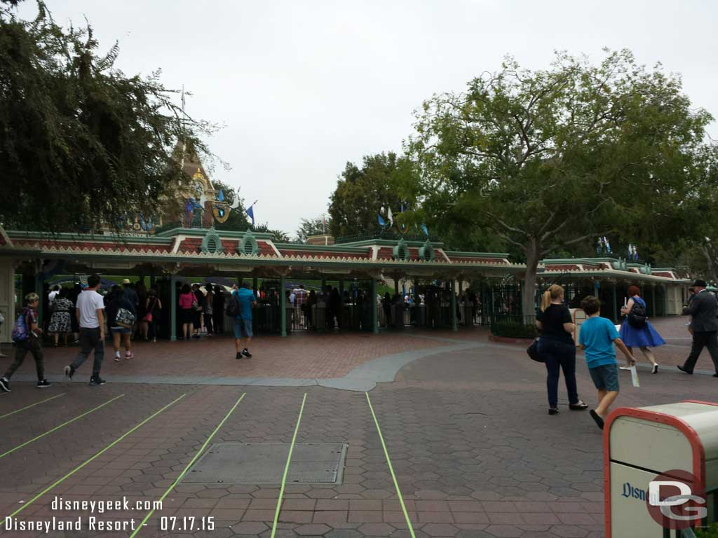 The gates are open and no lines right now  #Disneyland60