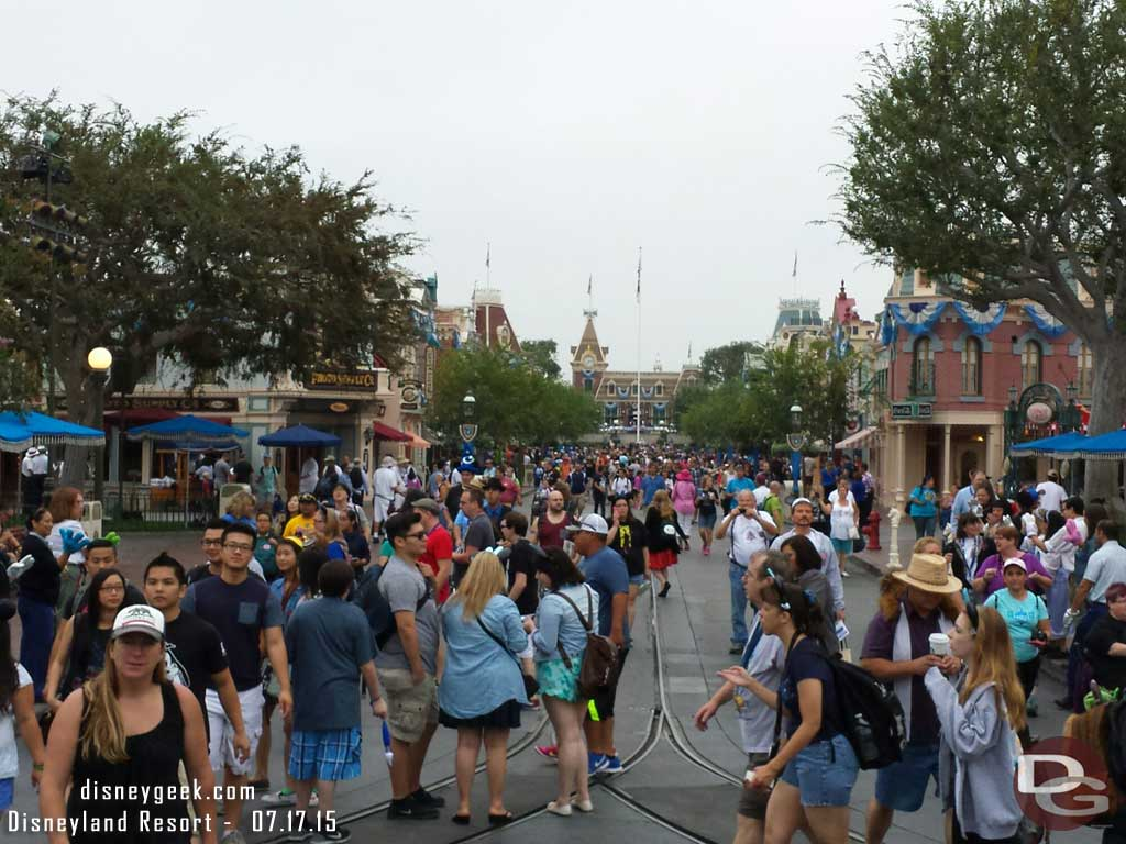 Main Street USA this morning #Disneyland