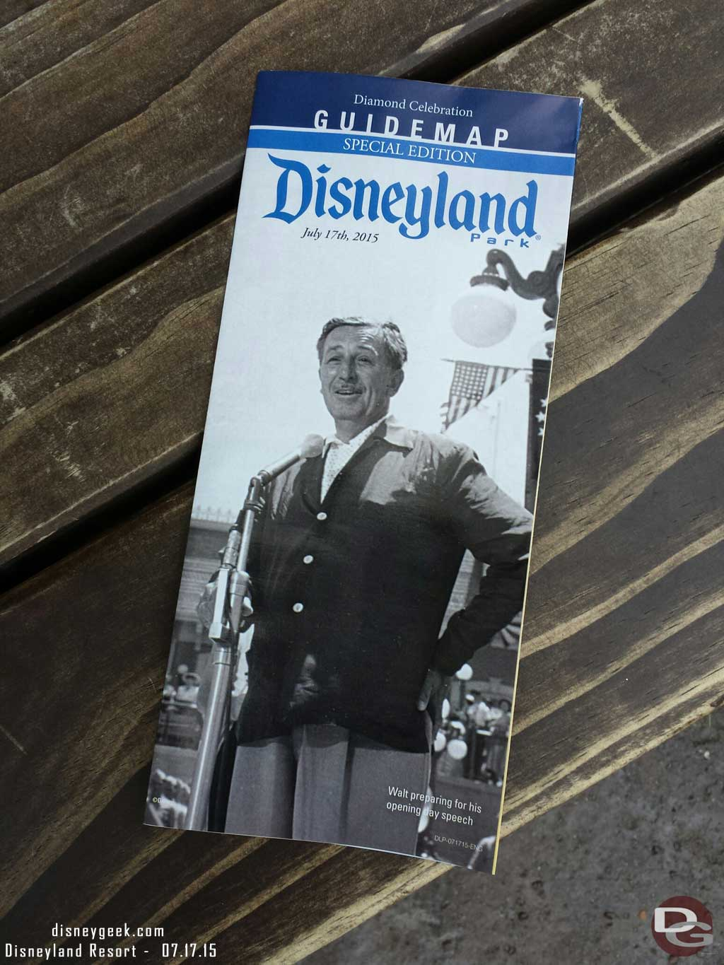 Commemorative guidemaps for #Disneyland60 feature Walt on the cover