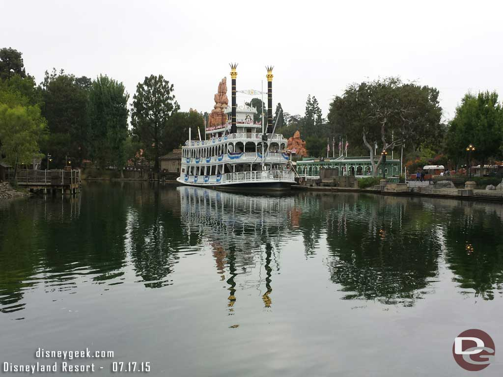 The Mark Twain waiting to start its day #Disneyland60