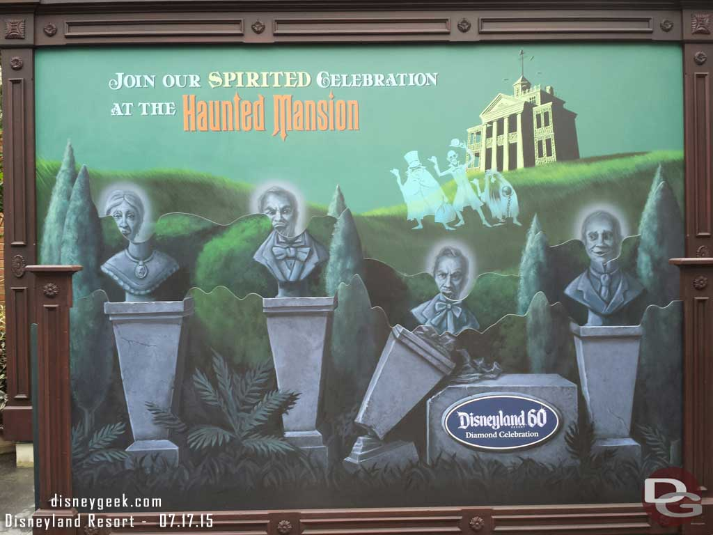 Haunted Mansion #Disneyland60 Photo spot now open
