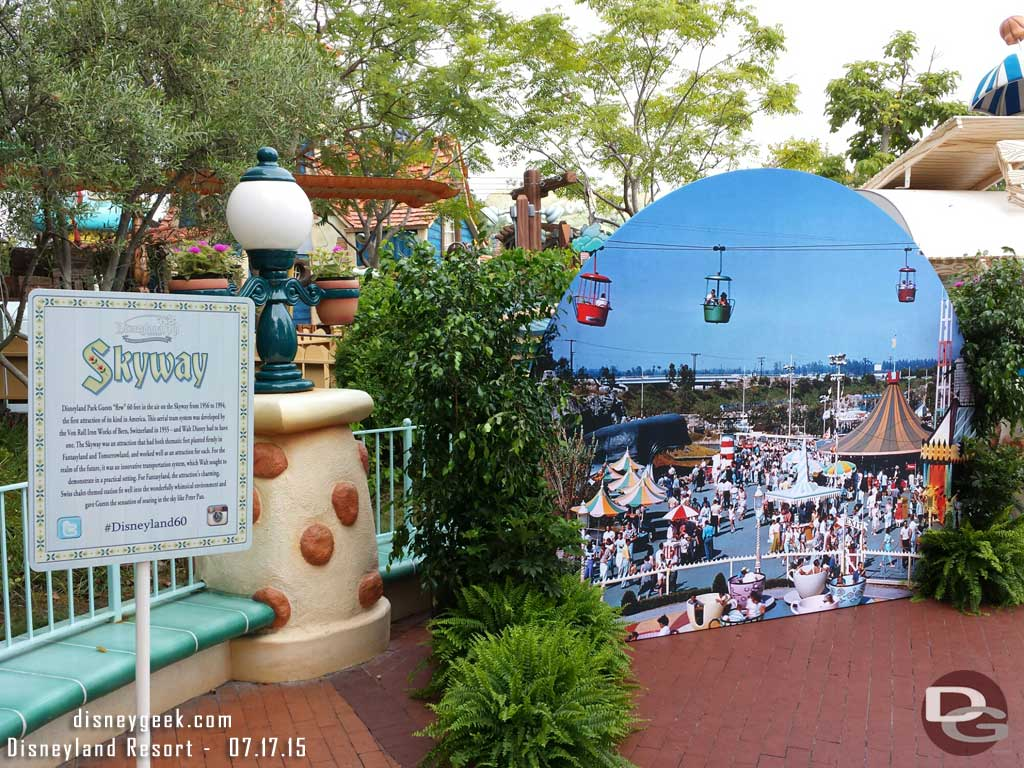 #Disneyland60 Skyway Photo spot in Toontown Park