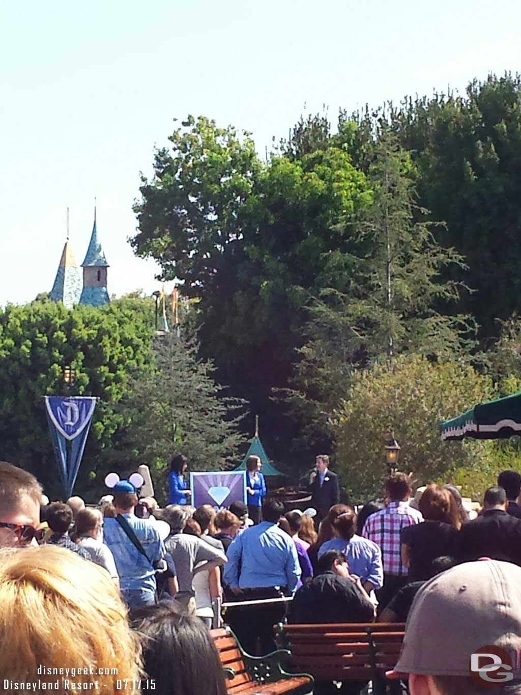 Michael Colglazier opening the #Disneyland60 event announcing a new grant program