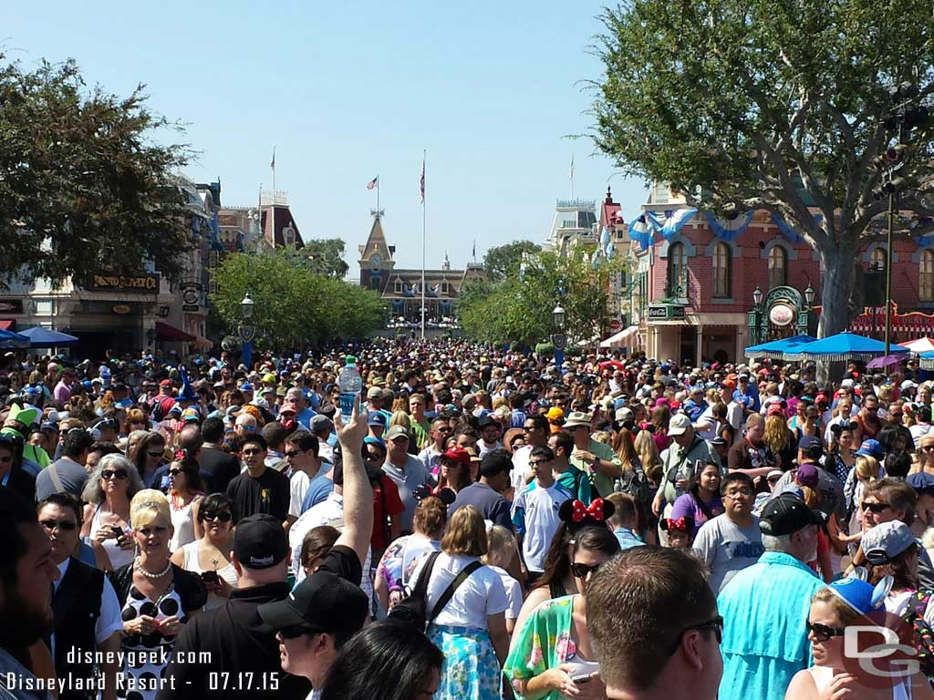 Main Street USA right after the #Disneyland60 event