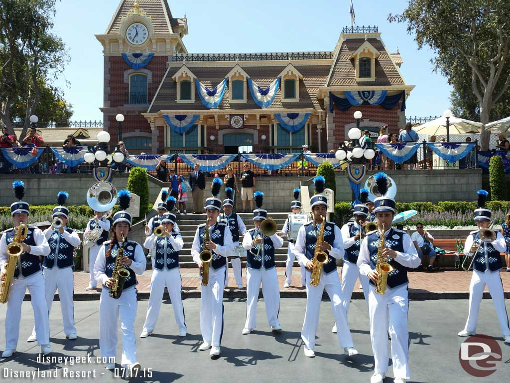The new #Disneyland Band in Town Square