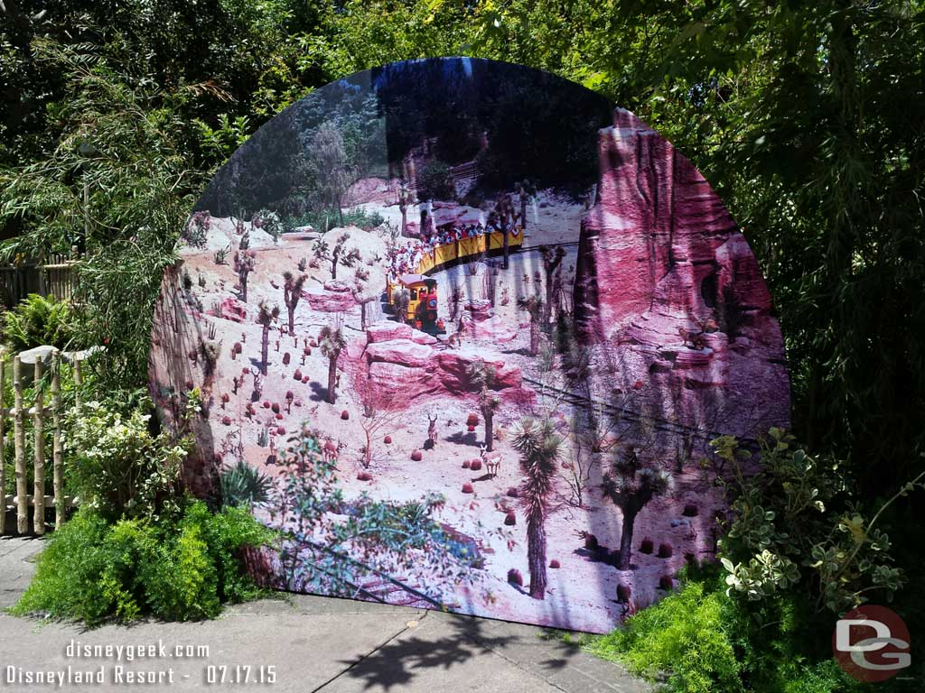 Mine Train #Disneyland60 photo op in Critter Country