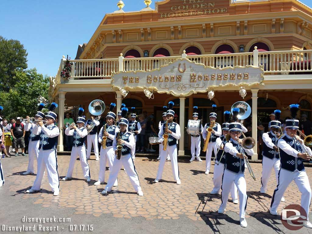 #Disneyland Band in front of the Golden Horseshoe