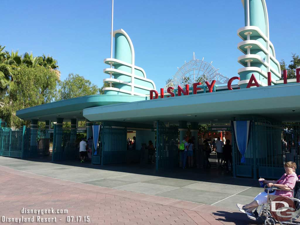 No line to get into Disney California Adventure at 4:45pm