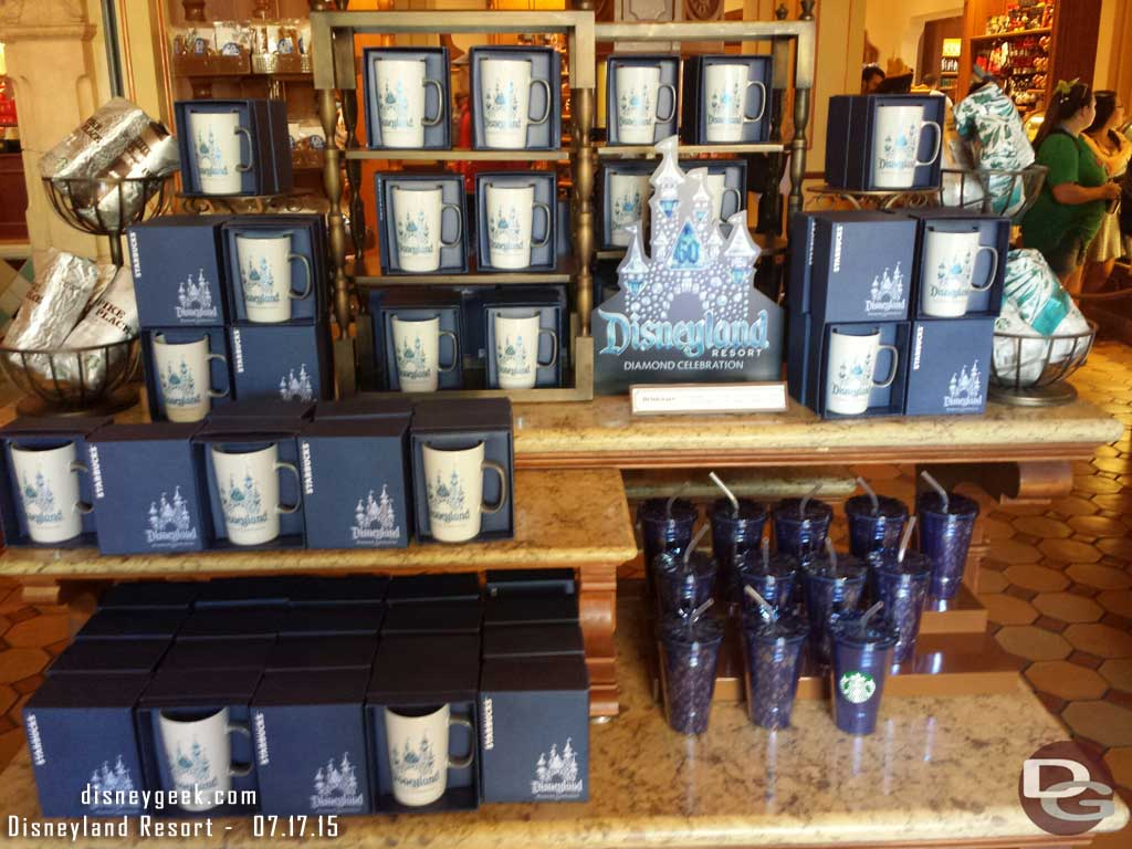 #Disneyland60 Star Bucks mugs & tumblers at Trolley Treats