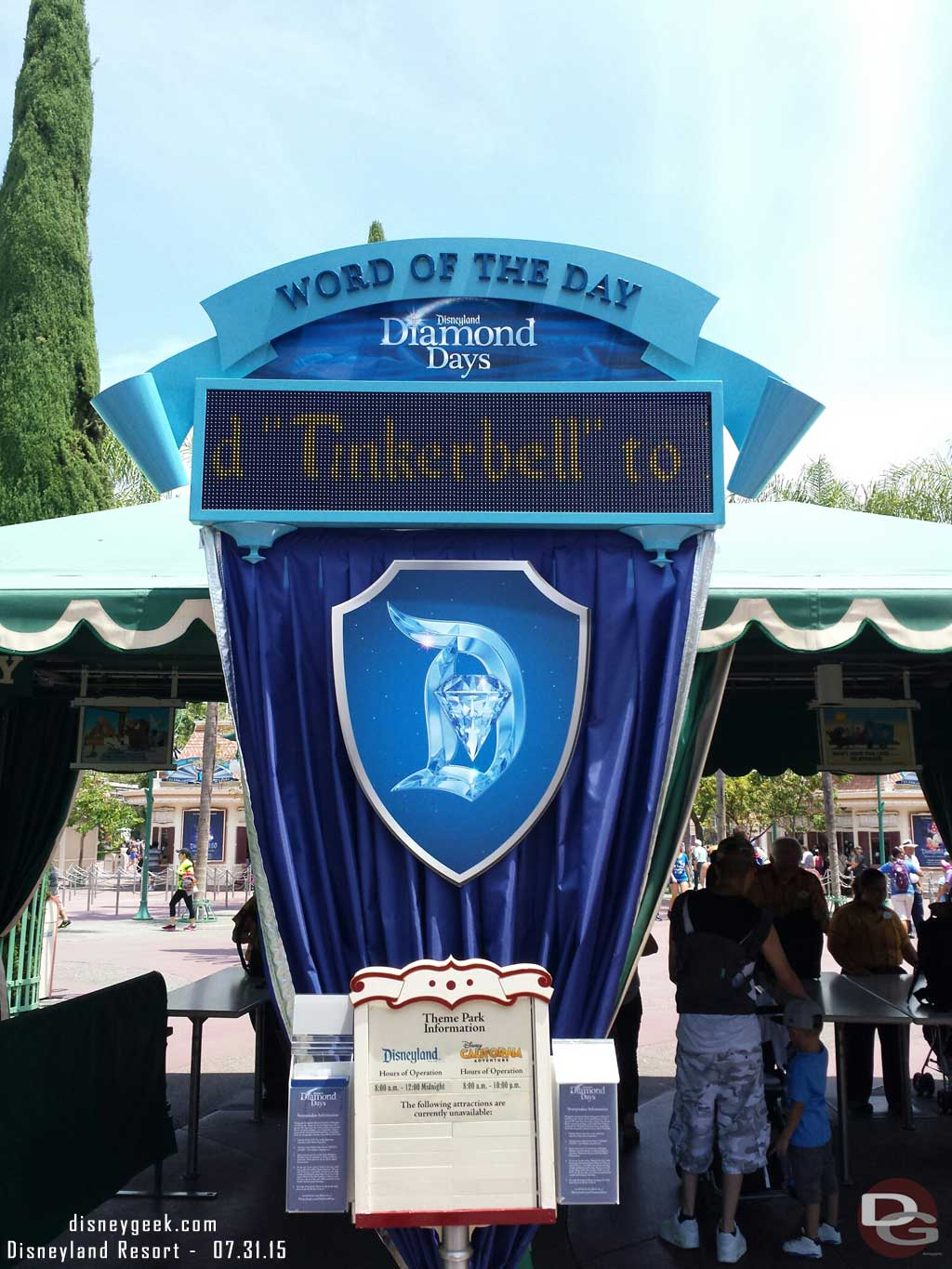 Just arrived at #Disneyland – #Disneyland60 word of the day today