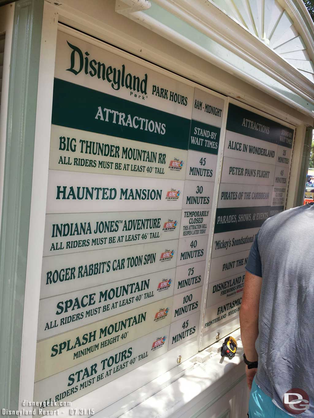 Some #Disneyland waits as of 1:24pm