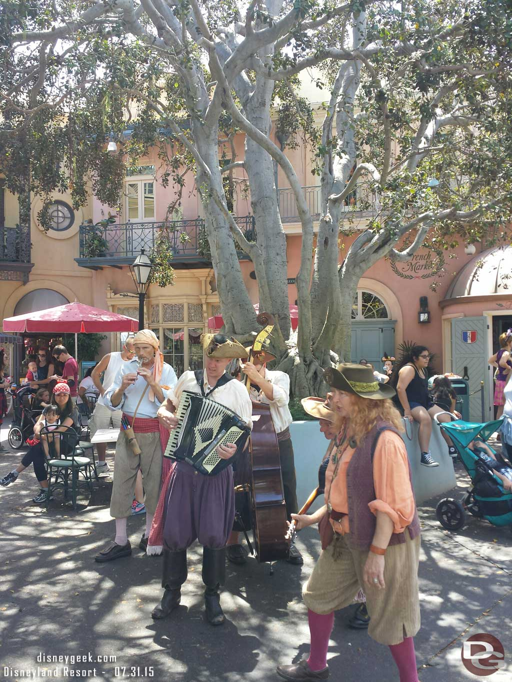 Crossed paths with the Bootstrappers in New Orleans Square #Disneyland