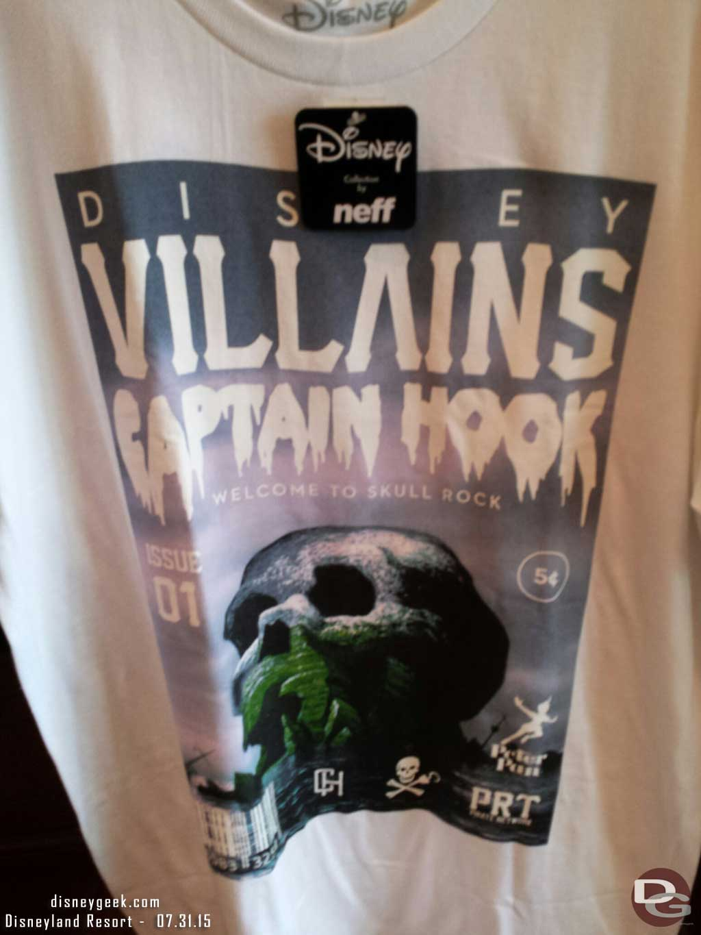 Disney Villains Captain Hook Skull Rock shirt in Elias & Co #BuenaVistaStreet