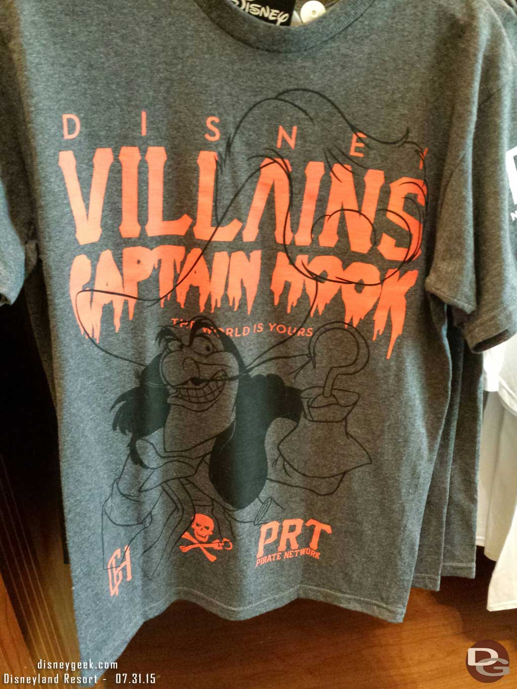 Disney Villains Captain Hook shirt #BuenaVistaStreet