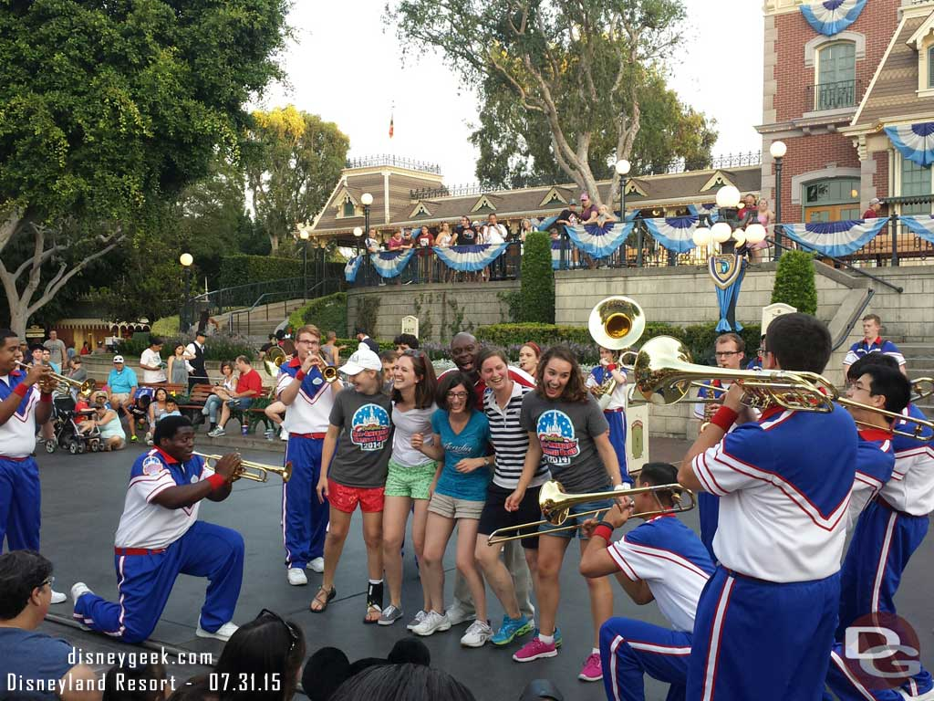 It is reunion weekend for the All-American College Band, alums join in during the Stevie Wonder medley #Disneyland