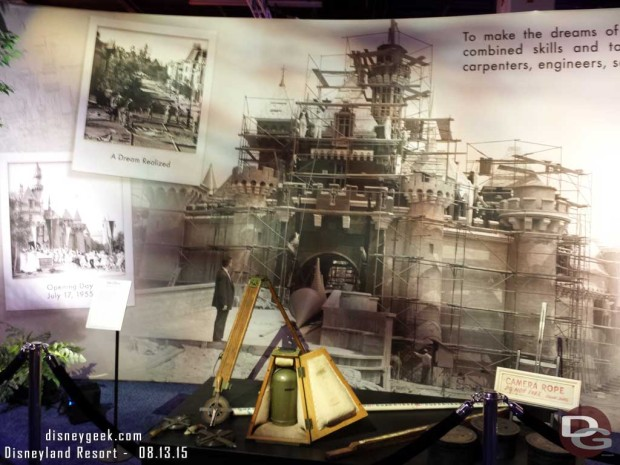 Construction and other items from the building of Disneyland - Walt Disney Archives Presents - Disneyland: The Exhibit