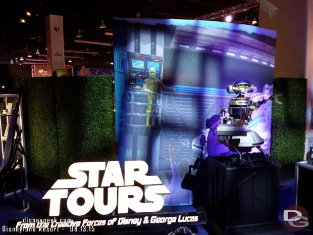 Star Tour Sign and Droid -Walt Disney Archives Presents - Disneyland: The Exhibit