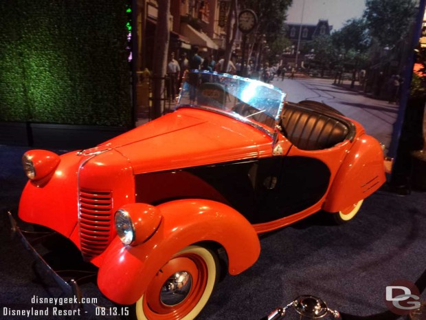 A car Mickey would take around the park - Walt Disney Archives Presents - Disneyland: The Exhibit