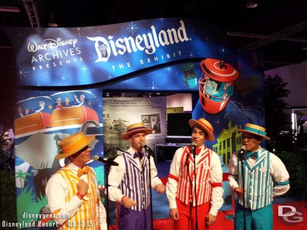 The Dapper Dans of Disneyland Entertaining before the opening