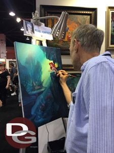 Michael Humphries Paints a Scene from the Little Mermaid at D23 Expo 2015 (Daynah Discoveries)