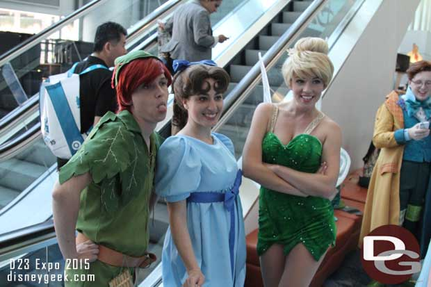 Peter Pan, Wendy, and Tinker Bell