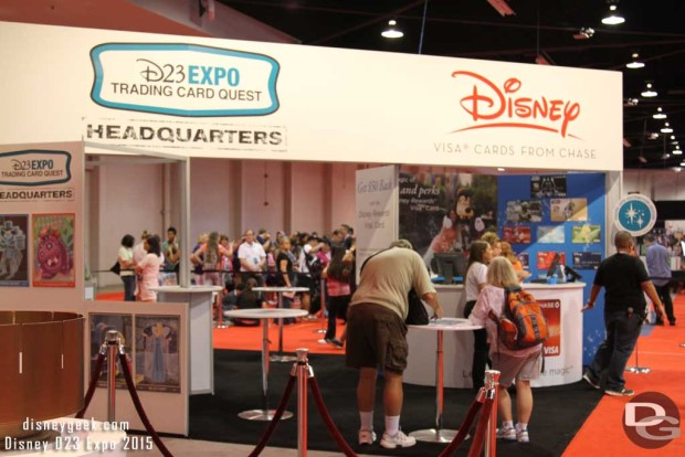 The Headquarters for the D23 Expo Trading Card Quest