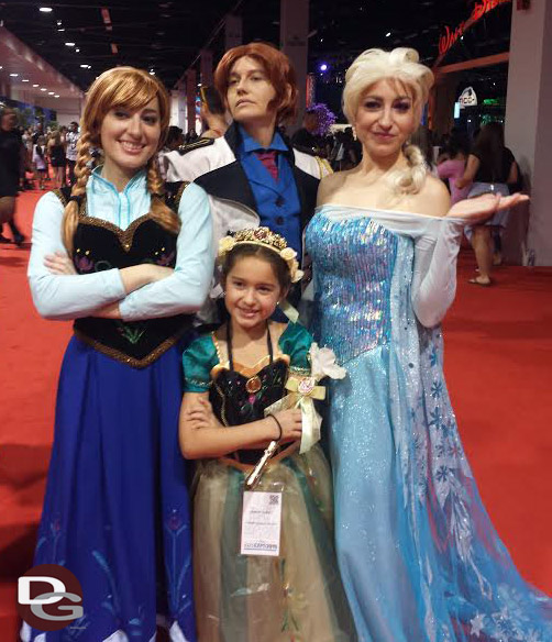 Frozen Cosplay at D23 Expo