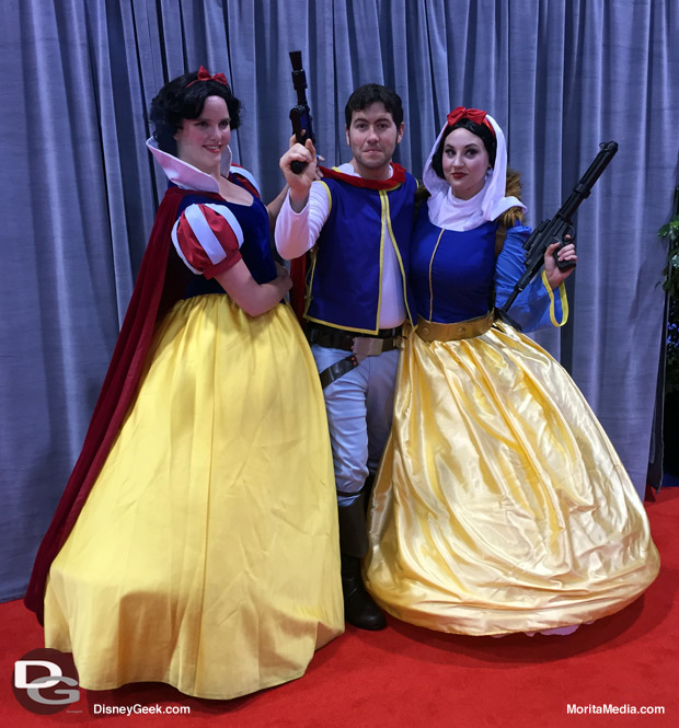 Loved these unique cosplay costumes like the Snow White and Prince Charming / Star Wars Rebel Cross-over.