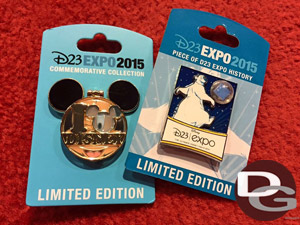 Pins from Disney Dream Store at D23 Expo