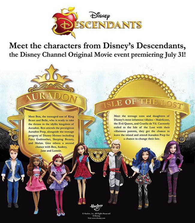 Disney's Descendants Dolls from Hasbro