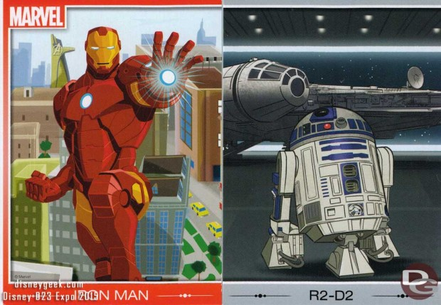 Marvel and Star Wars cards were also part of the D23 Expo Trading Card Quest